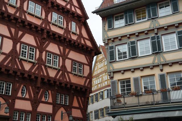 Fachwerkhäuser esslingen old town, architecture buildings.