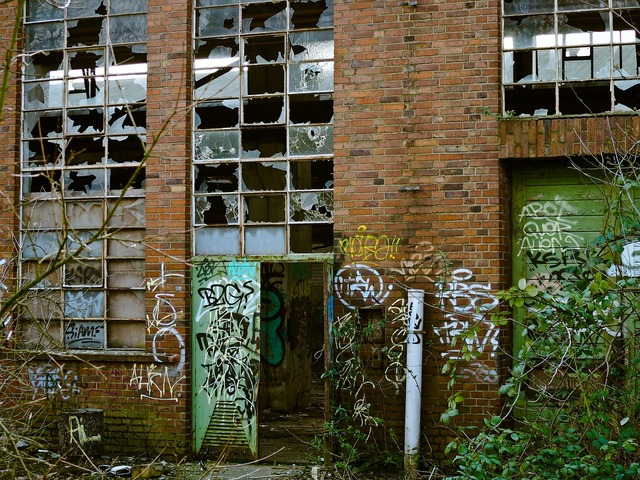 Factory lapsed ruin, industry craft.