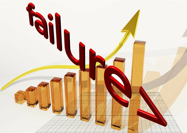 Failure opposites rise, business finance.