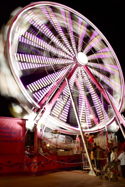 Fair carnival lights.