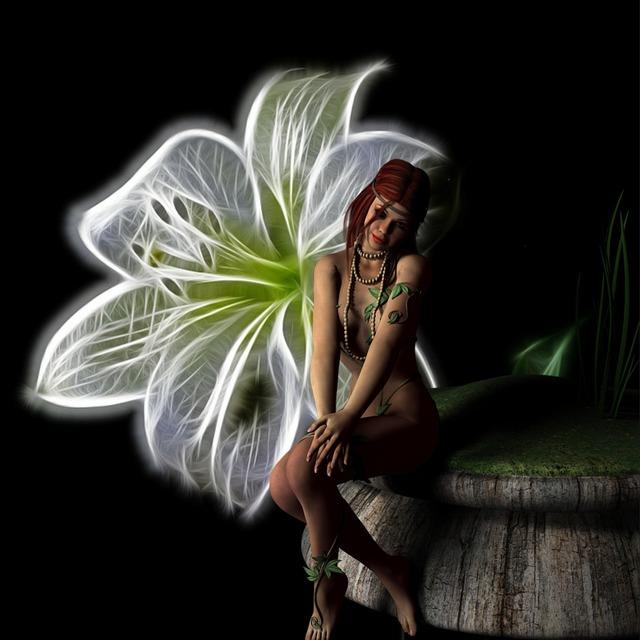 Fairy fantasy flower, people.