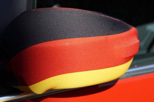 Fanartikel germany rear mirror, sports.
