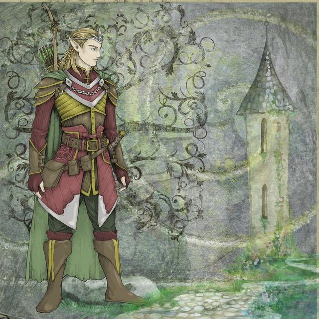 Fantasy fairytale elve, people.