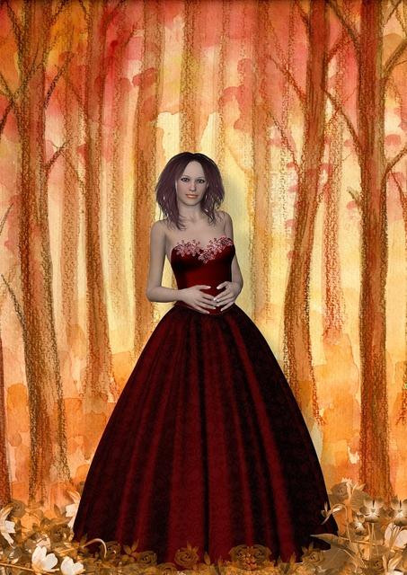 Fantasy girl dress, people.