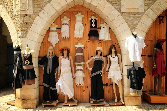 Fashion clothing window, beauty fashion.