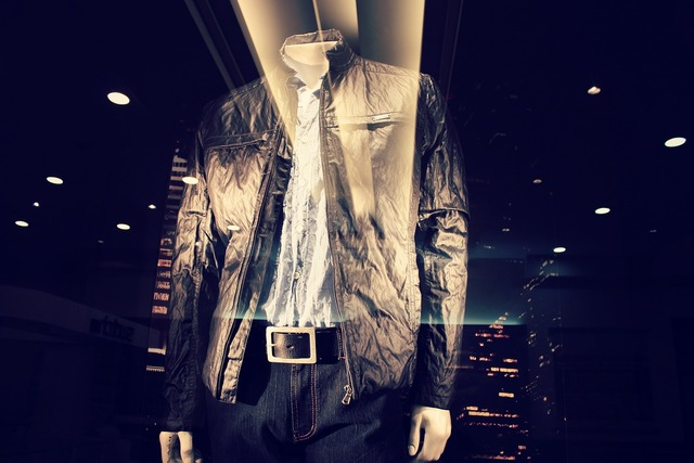 Fashion jacket stained glass window, beauty fashion.