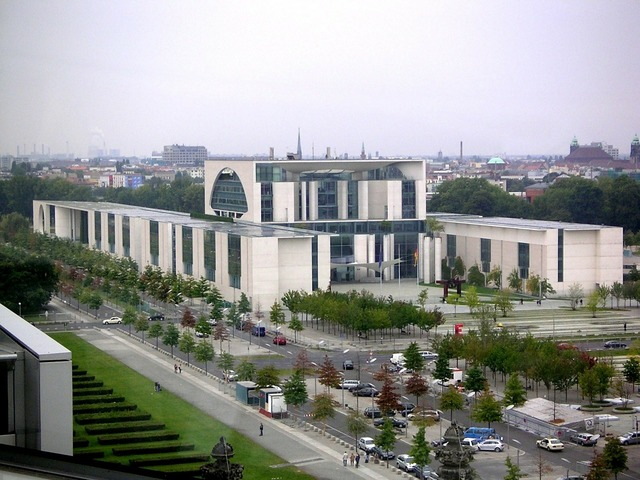 Federal chancellery office complex government district.
