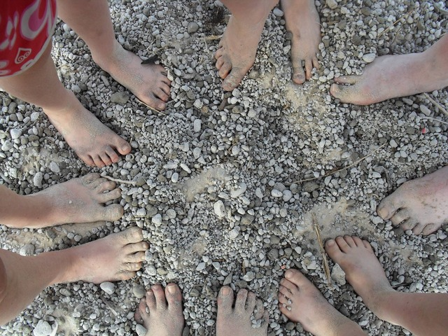Feet beach barefoot, travel vacation.
