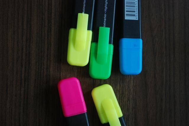 Felt tip felt tip pens colorful.