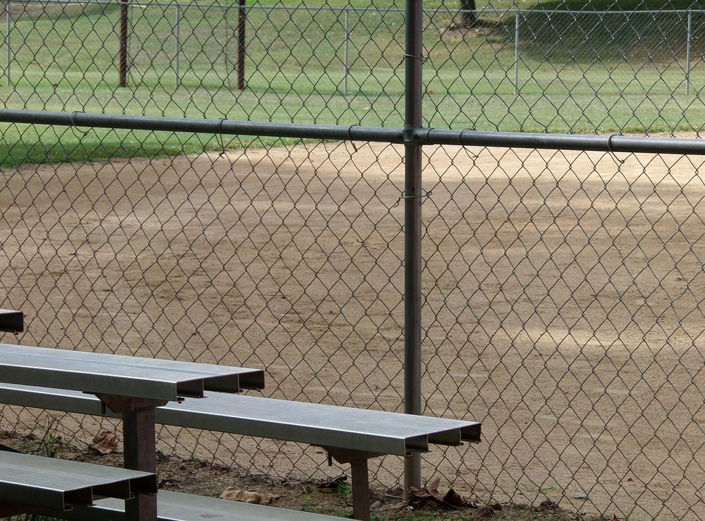 Fence baseball baseball field, sports.