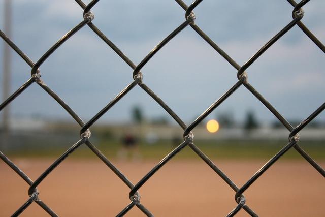 Fence baseball chain, sports.