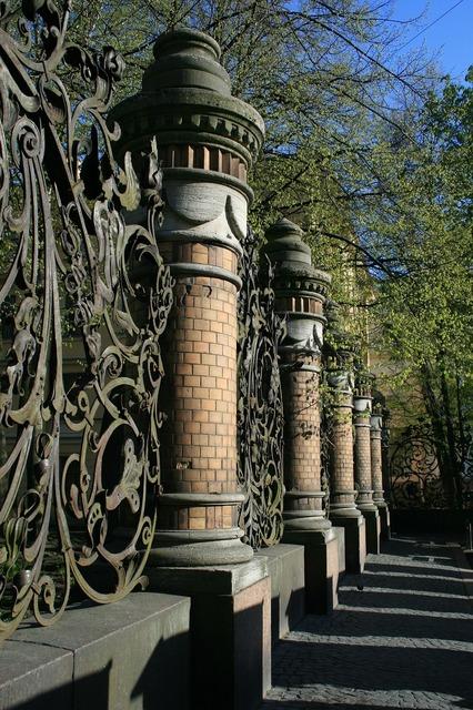 Fence pillars decorative.
