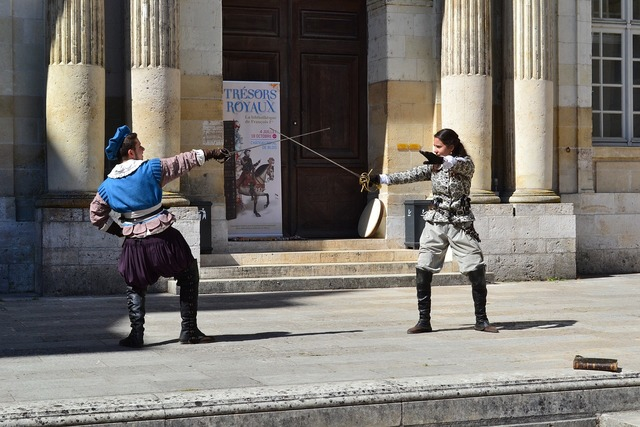 Fencing former fencing château de blois.