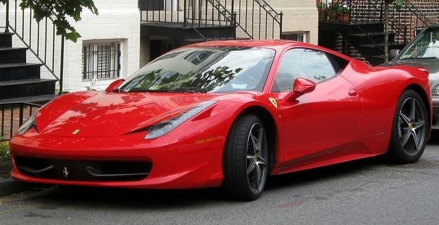Ferrari 458 auto sports car.