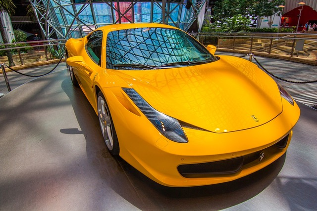 Ferrari f458 sports car, transportation traffic.