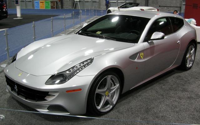 Ferrari ff sports car, transportation traffic.