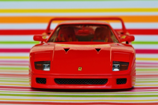 Ferrari racing car model car, transportation traffic.