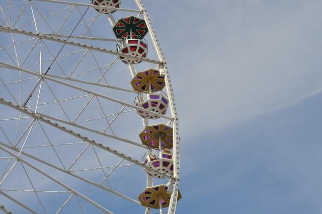 Ferris wheel big wheel amusement park.