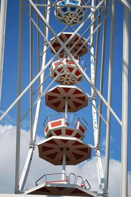 Ferris wheel big wheel fair.