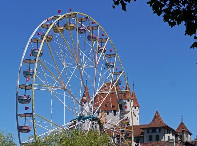 Ferris wheel folk festival fair.
