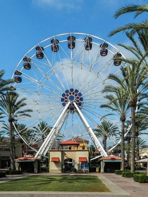 Ferris wheel giant wheel park.