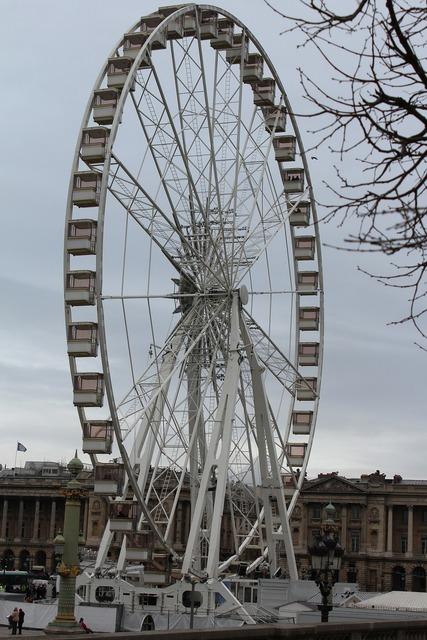 Ferris wheel paris park.