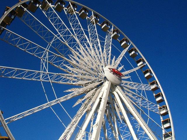 Ferris wheel ride.