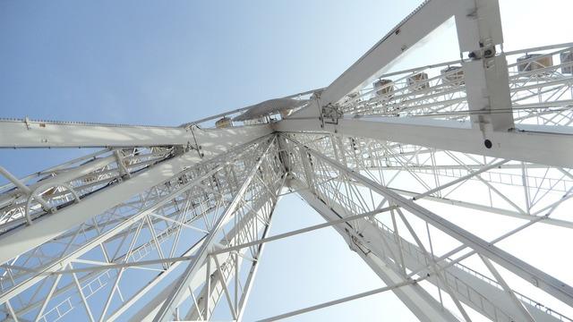 Ferris wheel ride park.