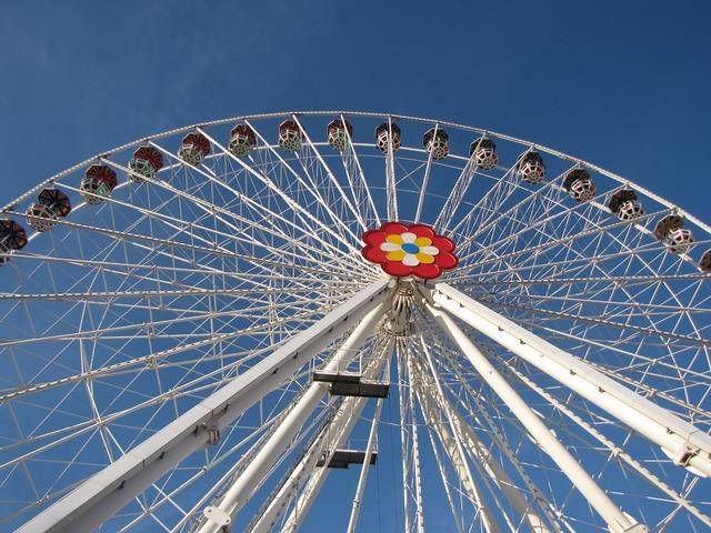 Ferris wheel vienne amusement park.