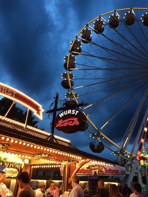 Ferriswheel fair ride.
