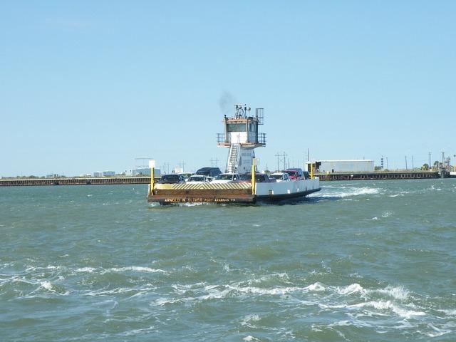 Ferry barge car ferry, transportation traffic.