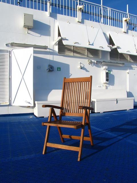 Ferry norröna sun deck.