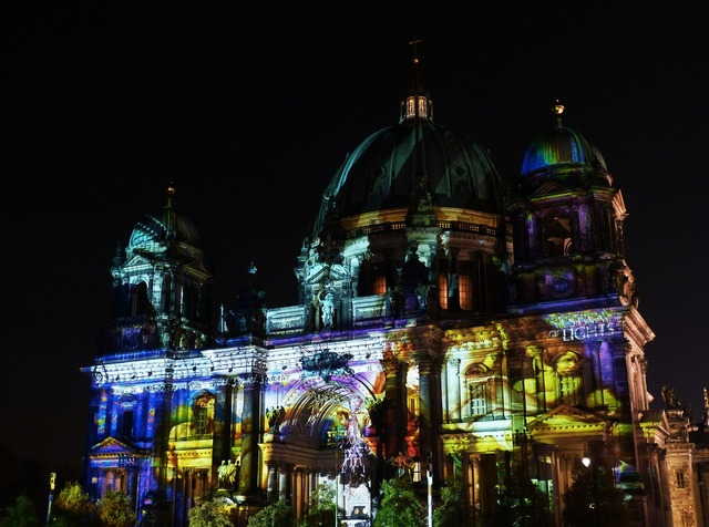 Festival of lights berlin cathedral berlin, places monuments.