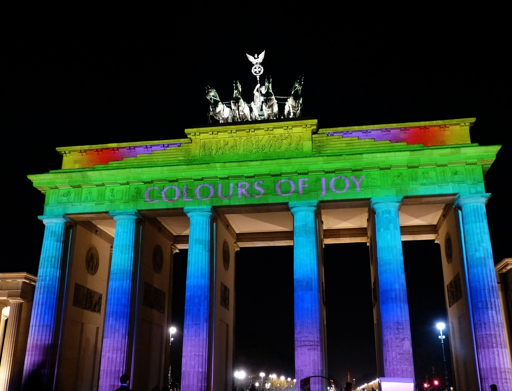 Festival of lights brandenburg gate berlin, places monuments.