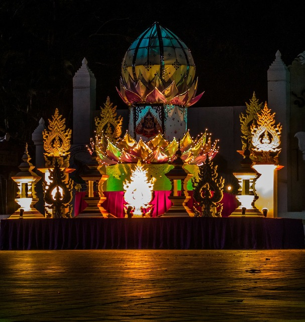 Festival of lights payao north thailand.