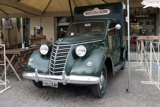 Fiat old vehicle, transportation traffic.