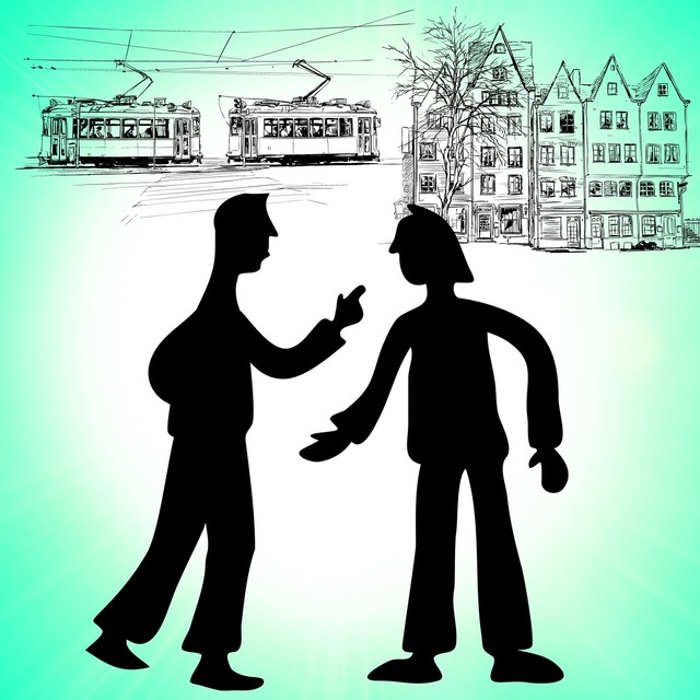 Fight quarrel criticize, architecture buildings.