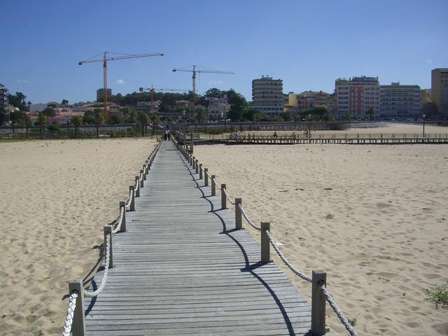 Figueira da foz portugal beach, travel vacation.