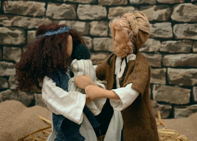 Figures dolls biblical narrative figures, people.