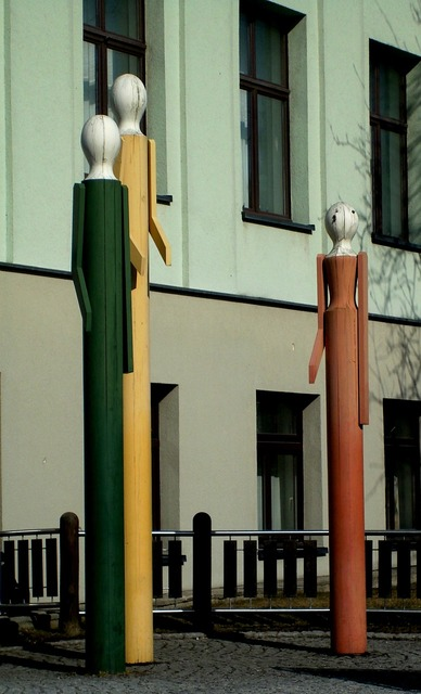 Figures wood art, industry craft.