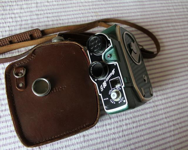 Film camera old camera narrow, science technology.