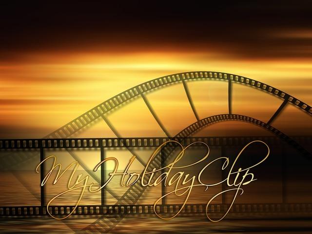 Filmstrip recordings sunset, travel vacation.