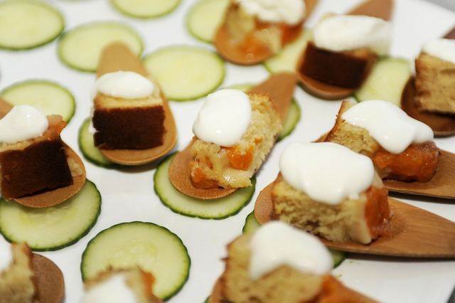 Finger food cucumber desert.