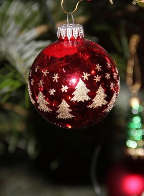 Fir ball christmas bauble christmas tree.