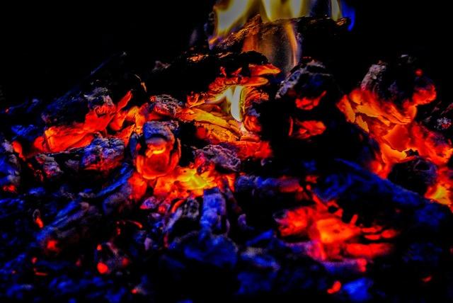 Fire an outbreak of censer.