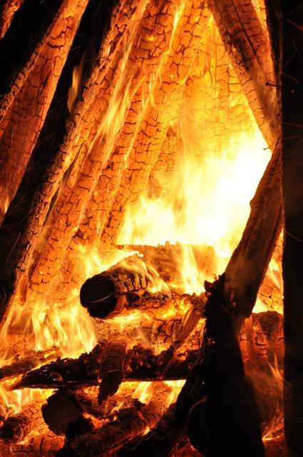 Fire brand embers.