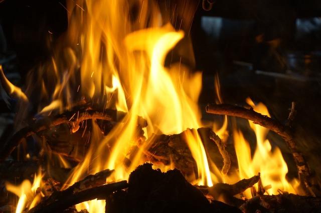 Fire burning hot.