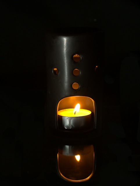 Fire candle decoration.