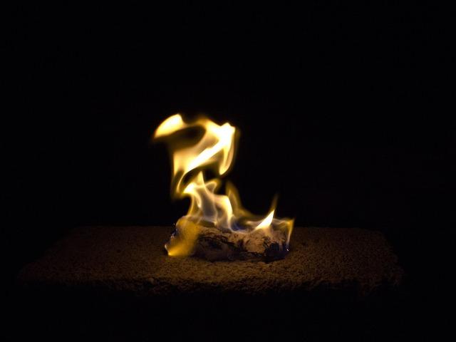 Fire darkness ablaze.