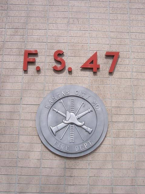 Fire department emblem kansas city, architecture buildings.